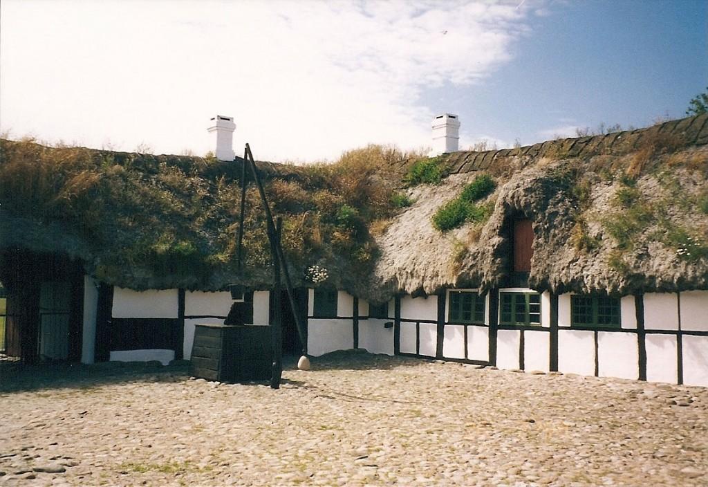 Tangtag på en gård på Læsø